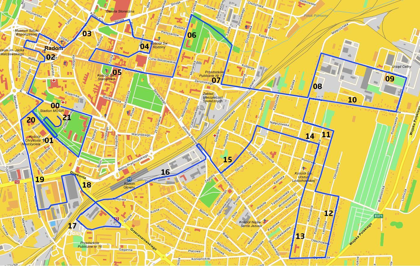 Trasa 3 Półmaratonu Radomskiego Czerwca 76